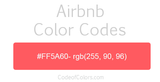 Airbnb Logo and Website Color Codes