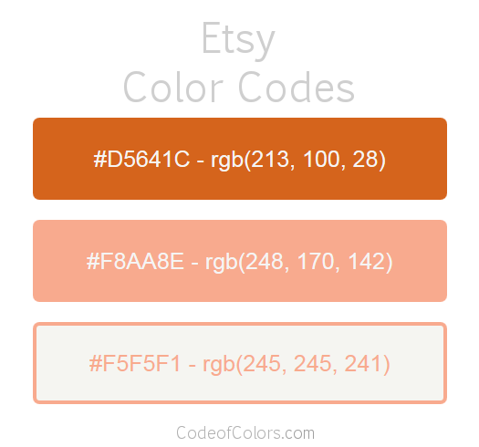 Etsy Logo and Website Color Codes