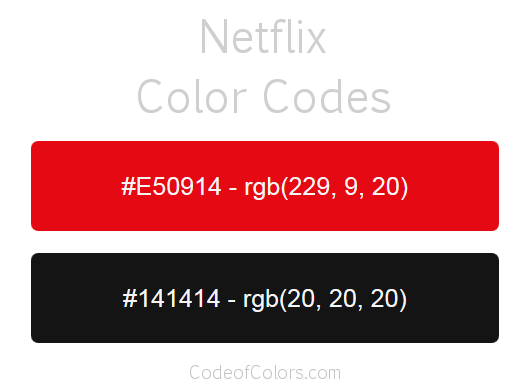 Netflix Logo and Website Color Codes